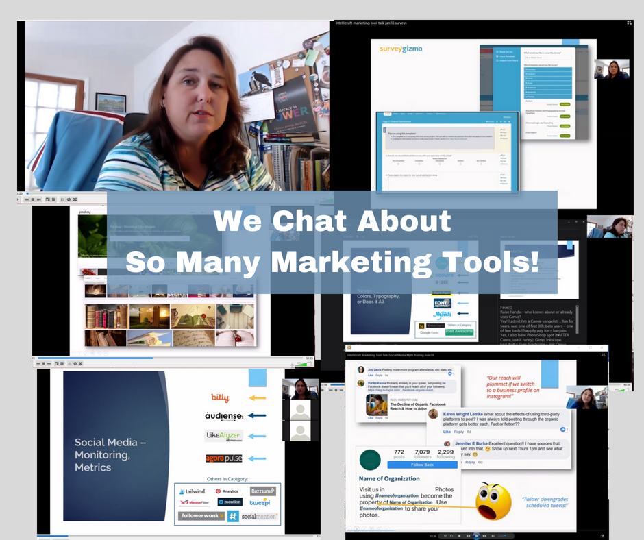 Marketing Tool Talk topics videos collage